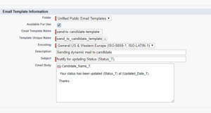Send A Dynamic Email Template Through Apex Code In Salesforce
